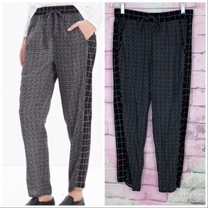 Madewell track trousers graph grid ankle small